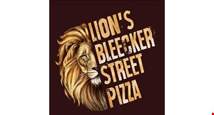 Product image for Lion's Bleeker Street Pizza $28.99 2 XL 1-Topping Pizzas