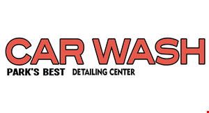 Product image for Park Best Car Wash $2 off full service wash