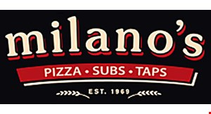 Product image for Milano's Pizza, Subs & Taps $15.99 1 LARGE SPECIALTY PIZZA
