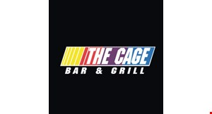Product image for The Cage Bar & Grill buy any specialty burger & receive one 1/2 price limit one per person per day delivery or takeout.
