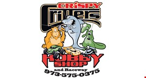 Crispy Critters Hobby Shop and Raceway logo