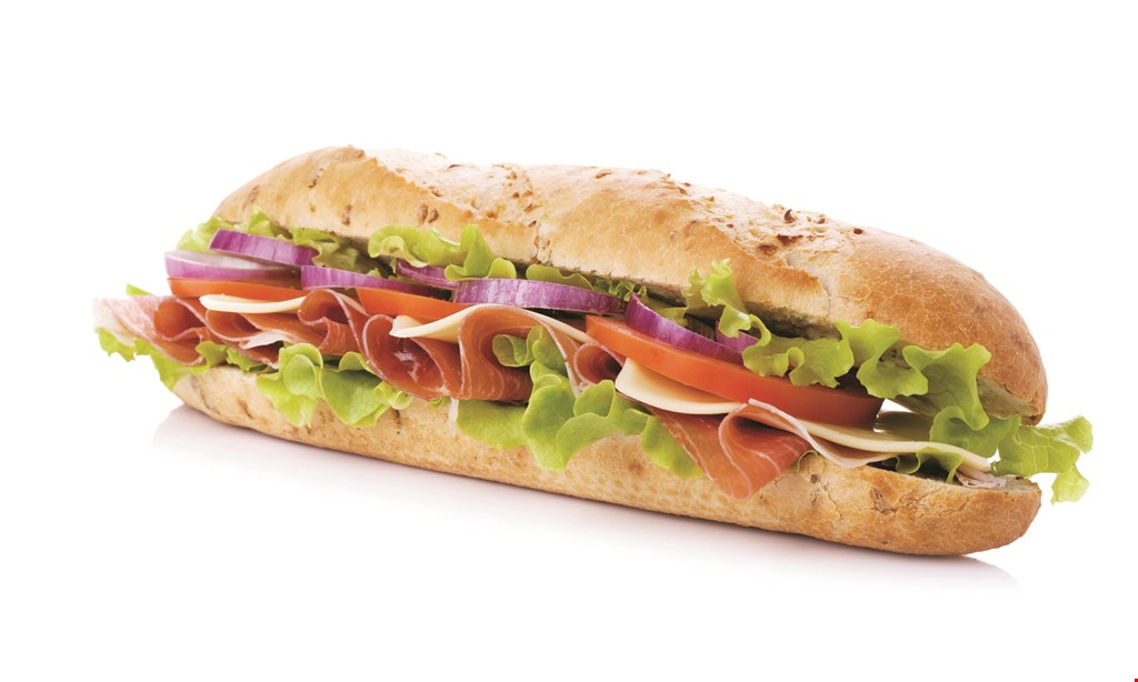 Product image for JERSEY MIKE'S PITTSBURGH Buy a regular sub, get a second regular free of equal or lesser value.