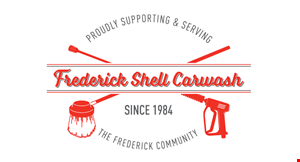 Product image for Frederick Shell Carwash $3 Off min. $15 wash