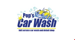 Pop's Car Wash logo