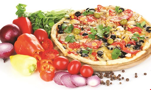 Product image for Garden of Eating Pizzeria $21.99 + tax Small Family Feeder One Large 1-Topping Pizza, Any Whole Hoagie & 2-Liter Pop.
