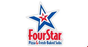 Product image for FOUR STAR PIZZA $13.99+ tax any large specialty pizza.