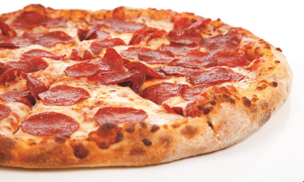 "Product image for Ollie's Pizza $7.99 Medium 12"" 8-Cut 1-Topping Pizza."