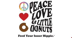 Peace, Love & Little Donuts logo