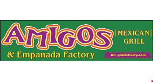 Product image for Amigos Mexican Grill & Empanada Factory Save $3 on any order of $15 or more.