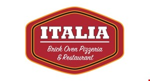 Product image for Italia Brick Oven Pizza & Restaurant $2 off large pie.