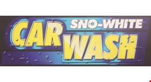 Sno White Car Wash logo