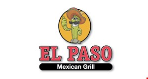Product image for El Paso Mexican Grill $10 off Take-out order of $50 or more.