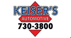 Product image for Keiser's Automotive Save up to $50 SLIDING SCALE SERVICE DISCOUNTS