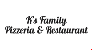 K'S FAMILY PIZZERIA & RESTAURANT INC. logo