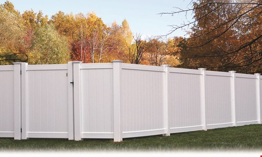 Product image for Fence Direct $1899 100 ft. White Vinyl 6 ft. High Privacy Fence (Gate Not Included)