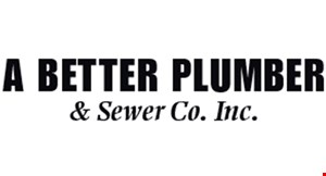 Product image for A BETTER PLUMBER & SEWER COMPANY As low as $50 drain cleaning, some restrictions apply.