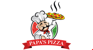 Product image for Papa's Pizza $10 For $20 Worth Of Casual  Dining