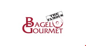 Product image for Bagel Gourmet $1 off breakfast or lunch sub