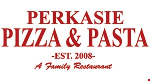 Product image for Perkasie Pizza & Pasta $19.99 + tax 2 large cheese pizzas.