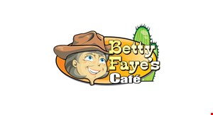 Product image for Betty Faye's Cafe 20% off senior citizens bill