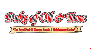 Product image for Duke of Oil & Tune $20 Off Any Service of $200 or more. $10 Off Any Service of $100 or more.