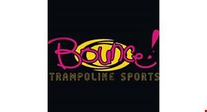 Bounce! Trampoline Sports logo