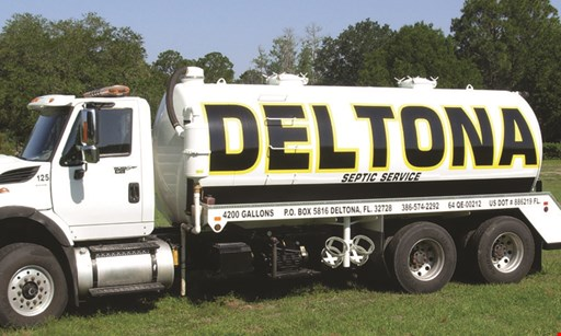Product image for Deltona Septic $10 OFF any septic service valid Mon.-Fri. 8am-4pm