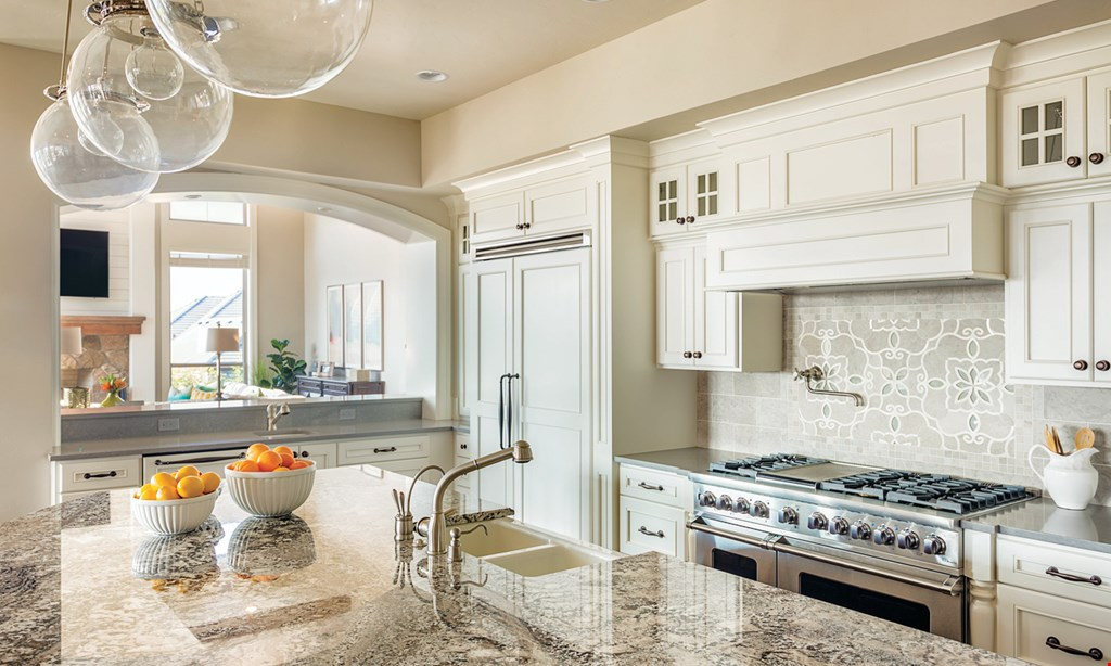 Product image for AB&K BATH & KITCHEN Total Kitchen Remodel $18,995* or as low as $259*/month. Package includes: granite counters, Kohler faucet, InSinkErator garbage disposal, stainless sink, DuraCeramic flooring, and kitchen cabinets. Installation included.