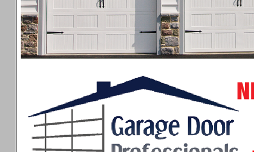 Product image for Garage Door Professionals $100 Off Any New Double Garage Door
