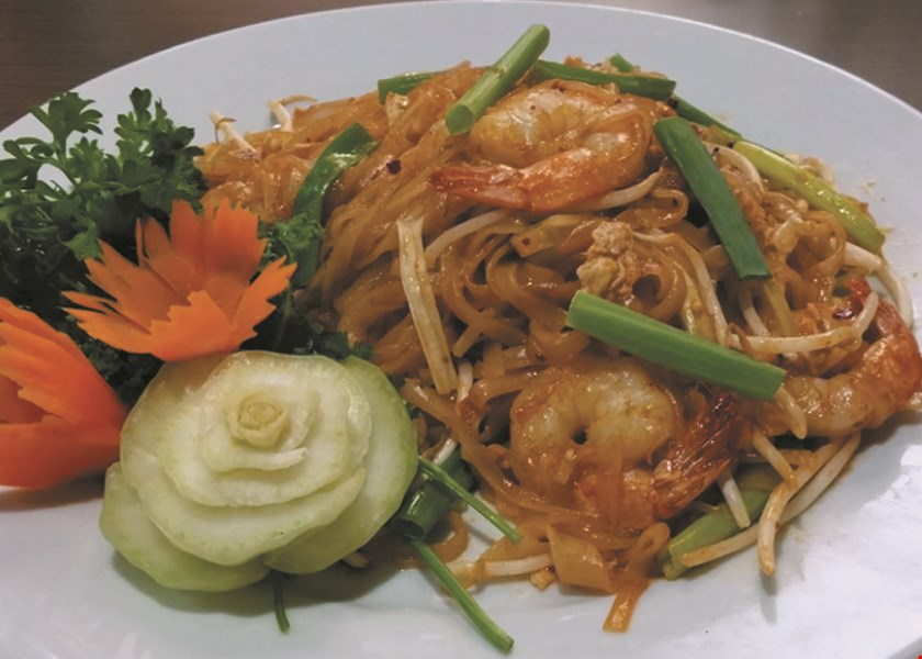Product image for 5 R CHA Thai Bistro $5 off any purchase of $25 or more