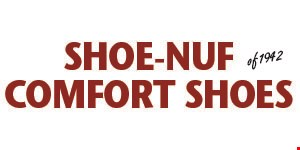 Product image for SHOE-NUF COMFORT SHOES $15 OFF each pair of men's & women's summer shoes with purchase of $80 or more. $30 OFF each pair of men's & women's summer shoes with purchase of $120 or more.