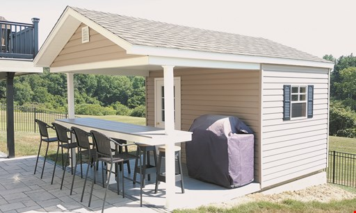 Product image for Jono Ace Hardware Free loft or 6' workbench with purchase of any shed 10'x12' or larger. $75 gift card with purchase of any shed 10'x12' or larger.