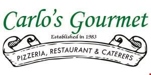 Carlo's Gourmet Pizzeria, Restaurant & Caterers logo