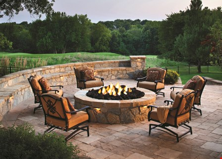 "Product image for Greenville Pavers $5995 20' x 16' paver patio with 56"" Belgard Western Stone Fire Pit"