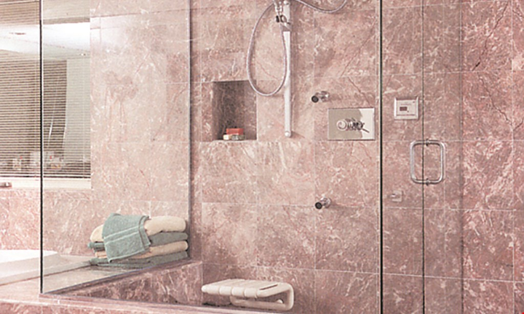 """Product image for A Touch of Glass $200 off all frameless shower doors two-piece min. wall mount hinges standard 76"""" height."""