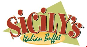 Product image for Sicily's Italian Buffet BUY ONE BUFFET, GET ONE FREE with purchase of two drinks. DINE-IN ONLY. Limit one per person.