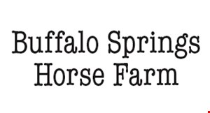 Product image for Buffalo Springs Horse Farm $20 For A 1-Hour Horseback Trail Ride (Reg. $40)