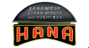 Product image for Hana Japanese Steak House and Sushi Bar $10 off any purchase