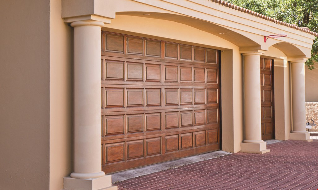 Product image for A1 GARAGE DOOR SERVICE $399 installed 9 tote storage system & garage door tune-upstart spring off right with an organized garage.