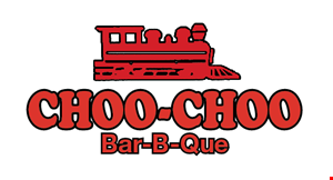 Product image for Choo Choo BBQ Ringgold $14.99 two pork plates Includes 2 sides each & texas toast