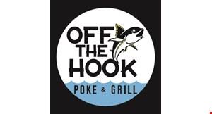 Off The Hook Poke & Grill logo