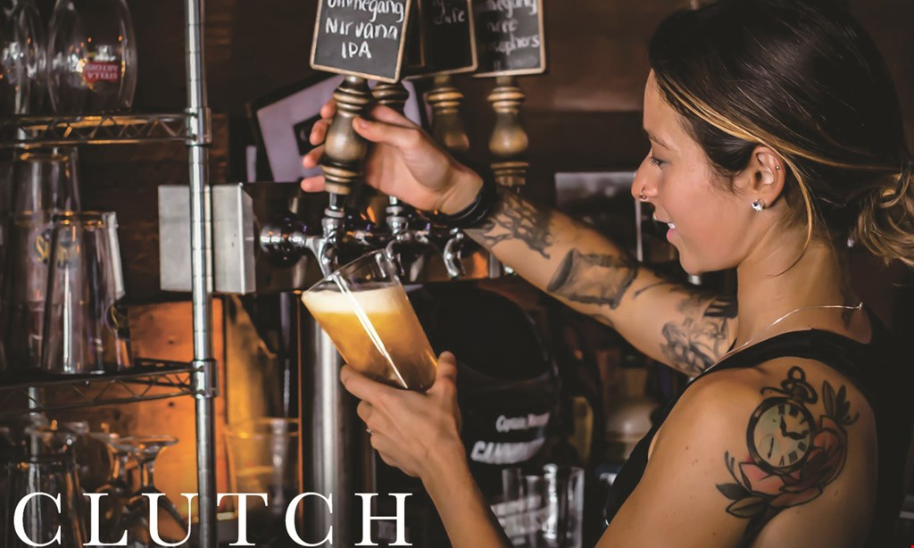 Product image for Clutch Kitchen + Sports Bar $10 OFF any purchase of $50 or more.