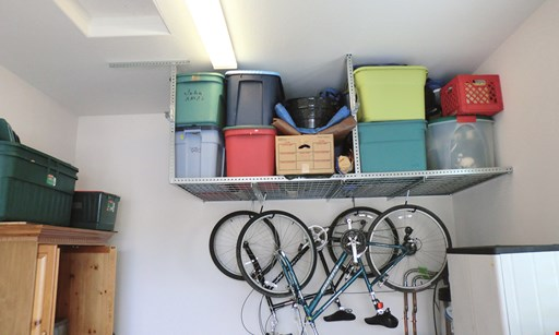 Product image for Affordable Ceiling Storage Racks 4' x 8' Ceiling Rack $239 +tax FREE Installation.