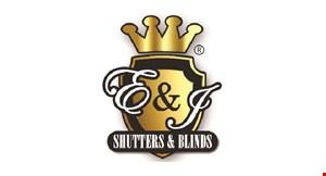 E & J Shutters & Blinds logo