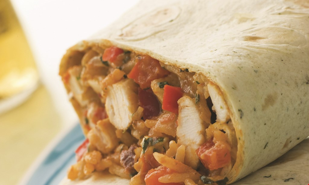 Product image for Burrito Express FREE Menu Item buy 1 menu item, get 1 of equal or lesser value FREE dine in or take-out only.