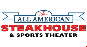 Product image for The All American Steakhouse $10 off any purchase of $65 or more, Available for carry out.