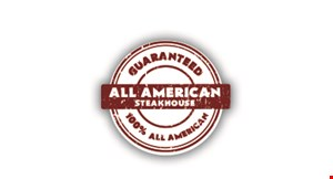 Product image for The All American Steakhouse $5 off any purchase of $35 or more Available for carry out.