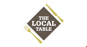 Product image for The Local Table 50% off dinner buy one dinner and get the 2nd dinner of equal or lesser value at 50% off (dining room & patio only)