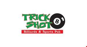 Trick Shot Billiard Hall logo