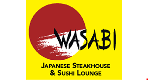 Product image for Wasabi Japanese Sushi $20 OFF any purchase of $125 or more.